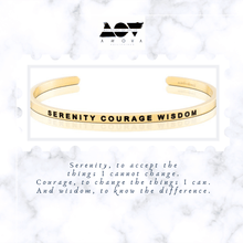 Load image into Gallery viewer, SERENITY COURAGE WISDOM Bangle