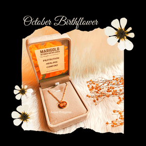 October Birthflower Necklace [Marigold]