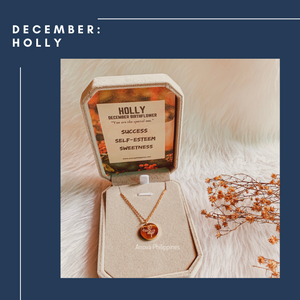 DECEMBER : HOLLY Birthflower Necklace