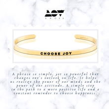 Load image into Gallery viewer, CHOOSE JOY Bangle