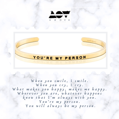 YOU'RE MY PERSON Bangle