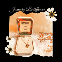 Load image into Gallery viewer, January Birthflower Necklace [Carnation]