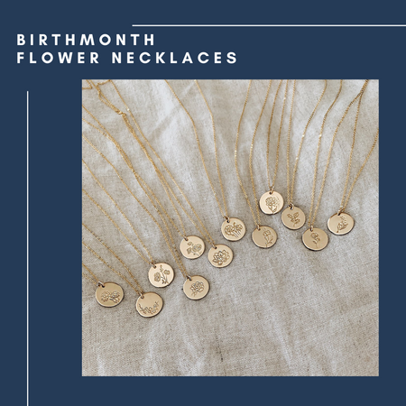 November Birthflower Necklace [Chrysanthemum]
