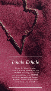 Inhale Exhale Gold V Bar Necklace