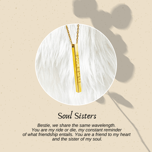 Soul Sisters (Mantra Bar Necklace)