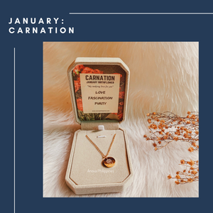 JANUARY : CARNATION Birthflower Necklace