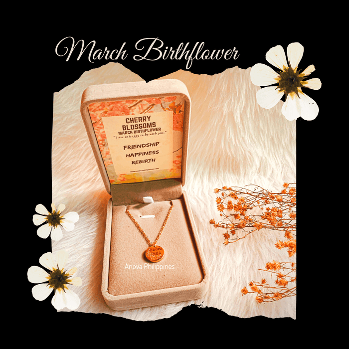March Birthflower Necklace [Cherry Blossoms]