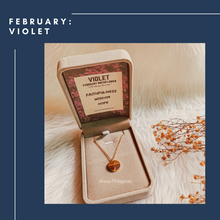 Load image into Gallery viewer, FEBRUARY VIOLET Birthflower Necklace