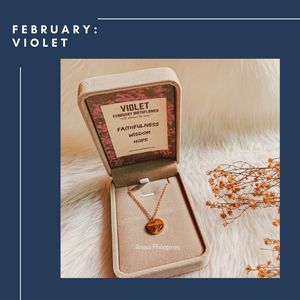 FEBRUARY VIOLET Birthflower Necklace