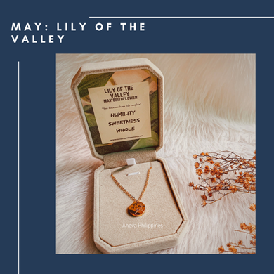 MAY : LILY OF THE VALLEY  Birthflower Necklace