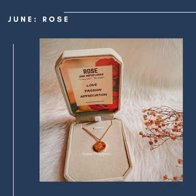 JUNE  : ROSE  Birthflower Necklace