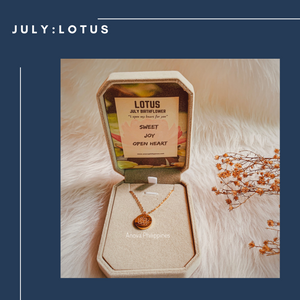 JULY : LOTUS Birthflower Necklace
