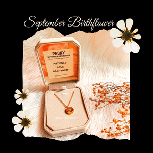 September Birthflower Necklace [Peony]