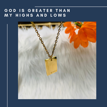 God is greater than my highs and lows