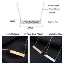 Load image into Gallery viewer, Horizontal Bar Customized Necklace