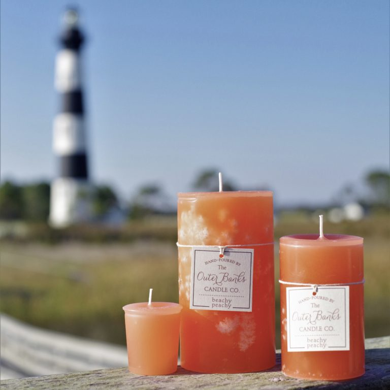 Beachy Peachy Pillar Candle