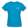 Gildan Ultra Cotton Ladies T-Shirt - turquoise