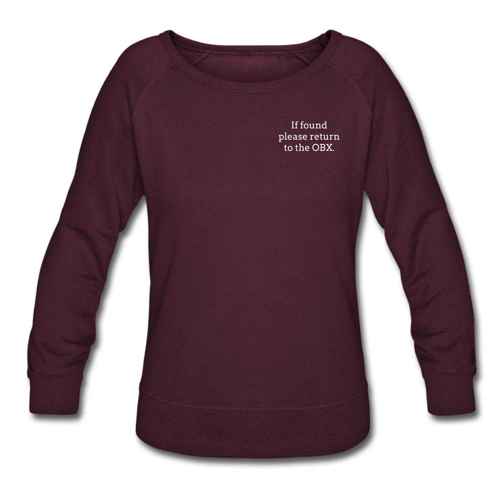 OBX Sweatshirt-Plain Back - plum
