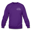 OBX Crewneck Sweatshirt-Plain Back - purple
