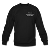 OBX Crewneck Sweatshirt-Plain Back - black