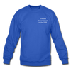 OBX Crewneck Sweatshirt-Plain Back - royal blue