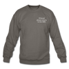 OBX Crewneck Sweatshirt-Plain Back - asphalt gray