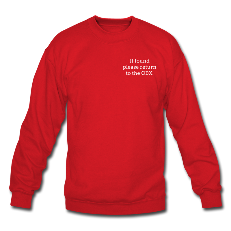 OBX Crewneck Sweatshirt-Plain Back - red
