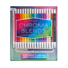 Load image into Gallery viewer, Chroma Blends Mechanical Watercolor Pencils - Set of 18 + Refills