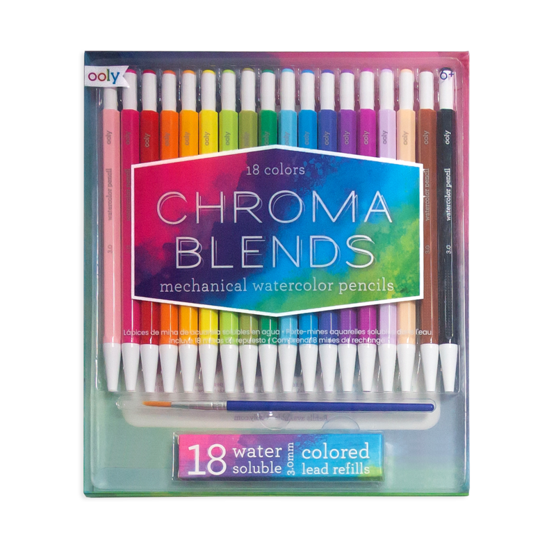 Chroma Blends Mechanical Watercolor Pencils - Set of 18 + Refills