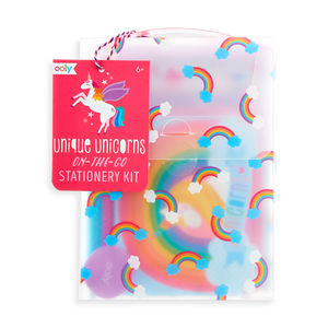 on-the-go stationery kit - unique unicorns