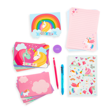 Load image into Gallery viewer, on-the-go stationery kit - unique unicorns