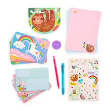 Load image into Gallery viewer, On-The-Go Travel Stationery Kit: Funtastic Friends - 21 Piece Set
