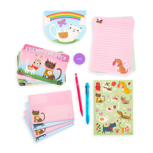 Load image into Gallery viewer, On-The-Go Travel Stationery Kit: Paw Pals - 21 Piece Set