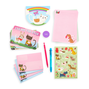 On-The-Go Travel Stationery Kit: Paw Pals - 21 Piece Set