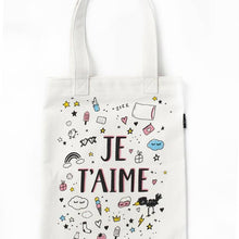 Load image into Gallery viewer, DIY Color-a-Tote Kit: Je T'aime