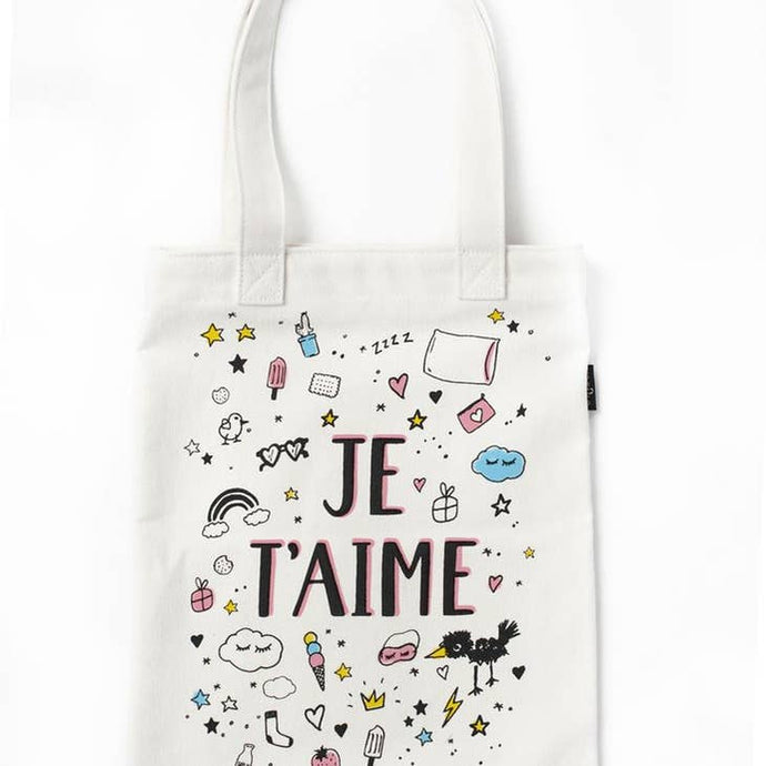 DIY Color-a-Tote Kit: Je T'aime