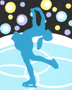 Figure Skater - 7 Color Paint by Number Kit
