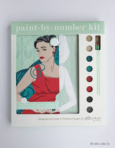 Deco Dame with Parrot Paint-by-Number Kit