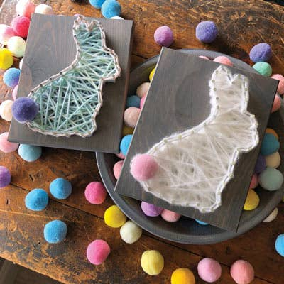 Easter Bunny Mini String Art Kit - DIY