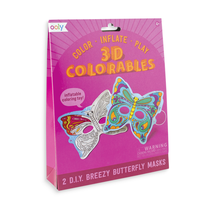 Ooly 3D Colorables - Breezy Butterfly Masks