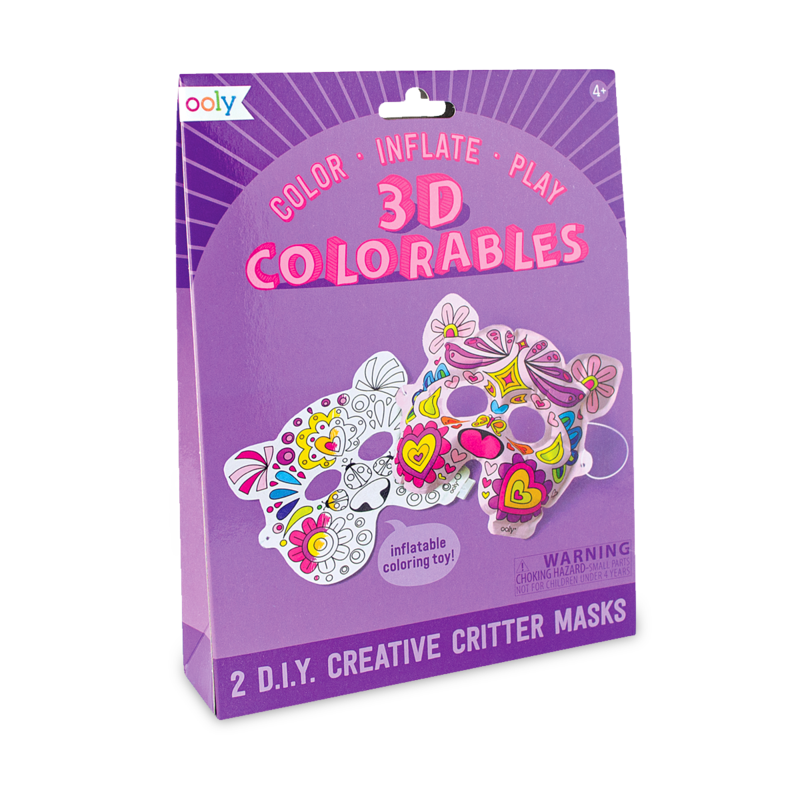 Ooly 3D Colorables - Creative Critter Masks