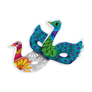 Ooly 3D Colorables - Beautiful Birds Masks - Set of 2