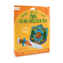 Load image into Gallery viewer, Ooly 3D Colorables - Dragon Shield and Sword Coloring Toys