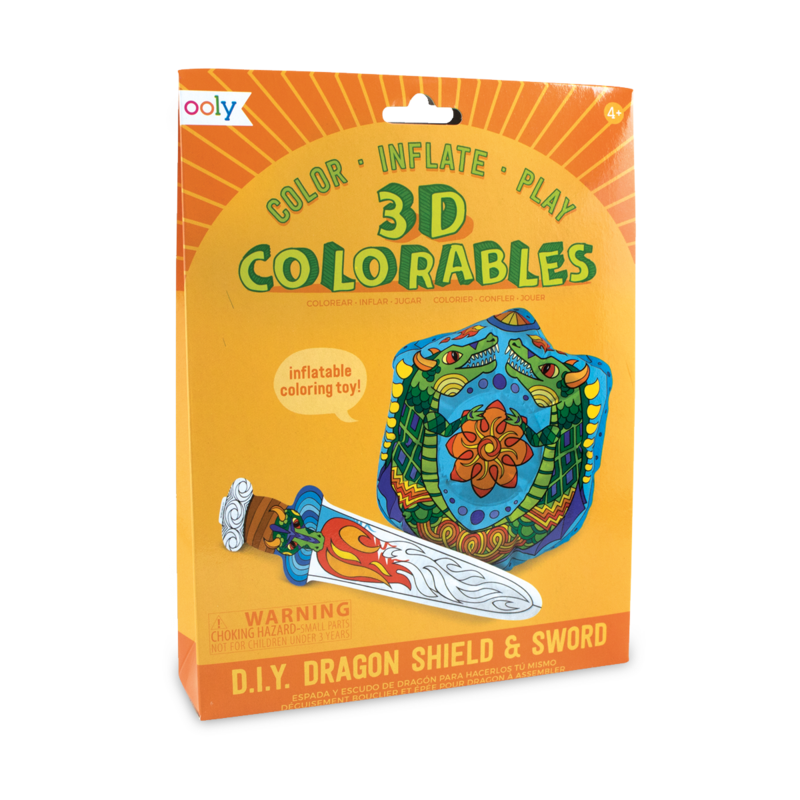 Ooly 3D Colorables - Dragon Shield and Sword Coloring Toys