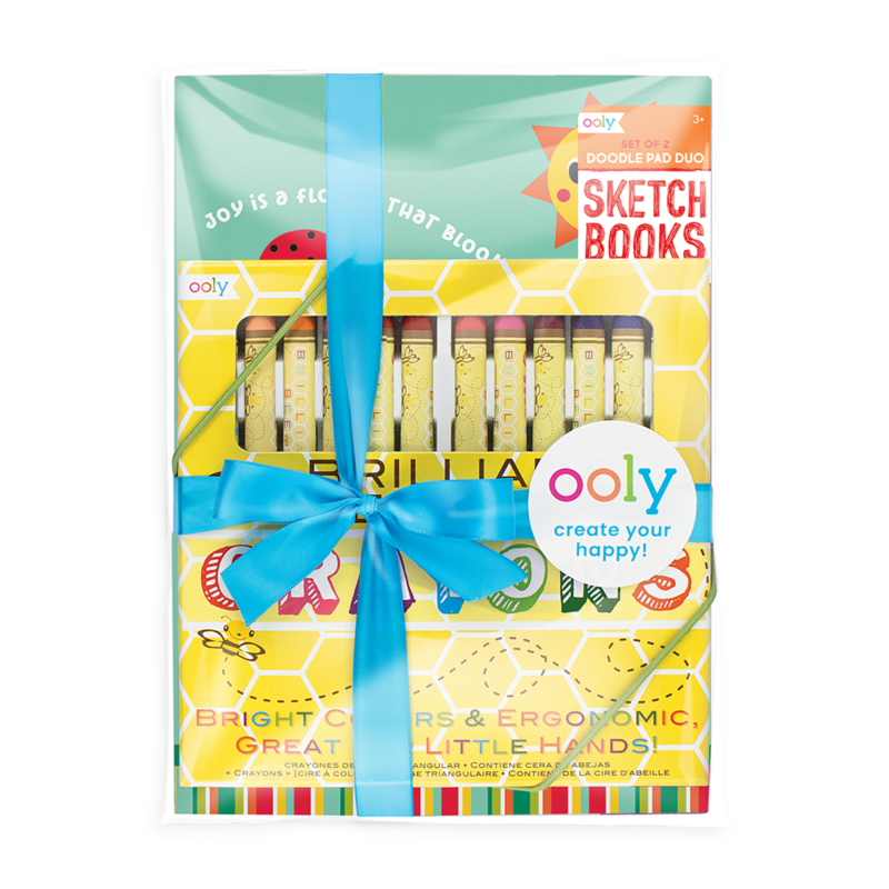 Ooly busy bee doodlers kids coloring gift set