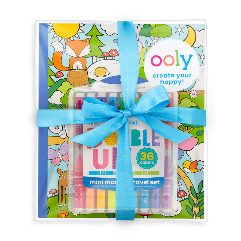 Ooly Double Up and Cozy Critters Coloring Giftables Pack