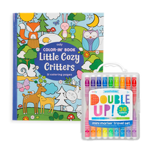 Load image into Gallery viewer, Ooly Double Up and Cozy Critters Coloring Giftables Pack