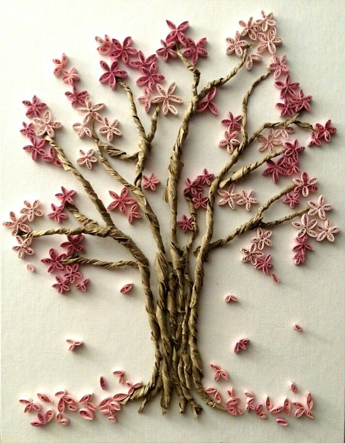 Quill Art Framed Cherry Blossom Tree: Wednesday, Feb.19th from 7-9pm