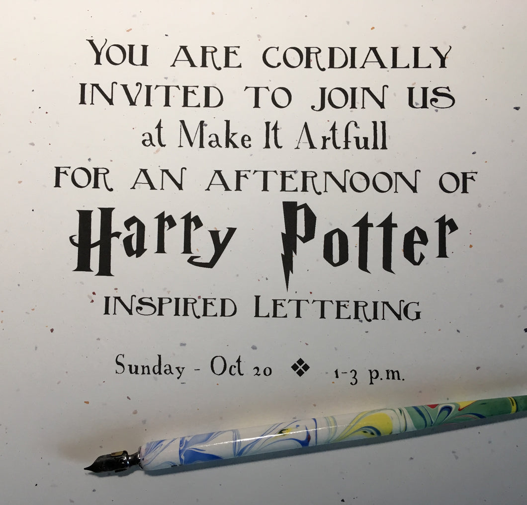 Harry Potter Penmanship: October 20th 1-3pm
