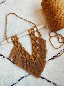 Macrame Fan Wall Hanging